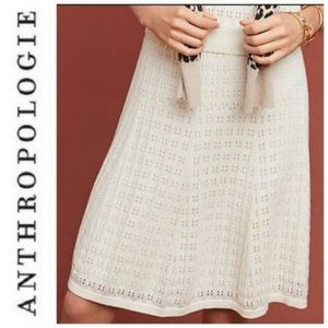 NWT Anthropologie Meadow Rue Sweater Skirt Winter